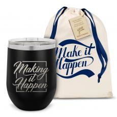 Stemless Wine Tumbler - Make it Happen Star Stainless Steel Stemless Wine Glass