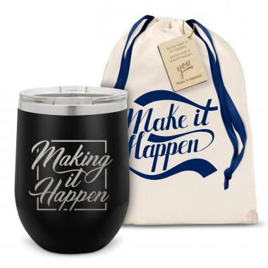 Make it Happen Star Stainless Steel Stemless Wine Glass