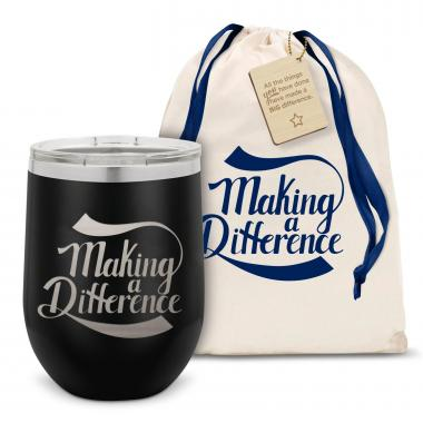 Making a Difference Stainless Steel Stemless Wine Glass