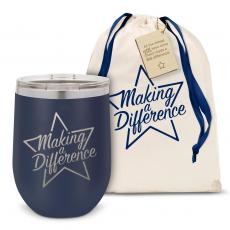 Stemless Wine Tumbler - Making a Difference Star Stainless Steel Stemless Wine Glass