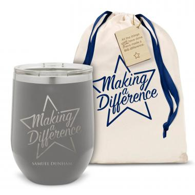 Making a Difference Star Stainless Steel Stemless Wine Glass