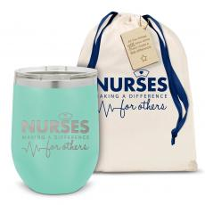 Vacuum Insulated - Nurses Making a Difference Stainless Steel Stemless Wine Glass