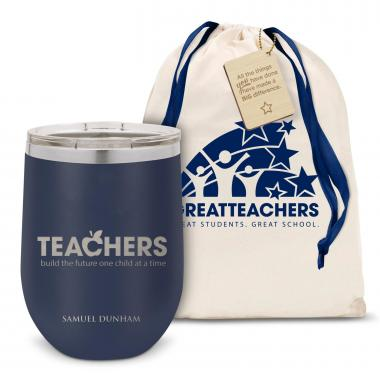 Teachers Building Futures Stainless Steel Stemless Wine Glass