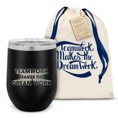 Teamwork Dream Work Stainless Steel Stemless Wine Glass