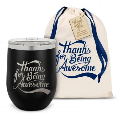 Thanks for Being Awesome Stainless Steel Stemless Wine Glass