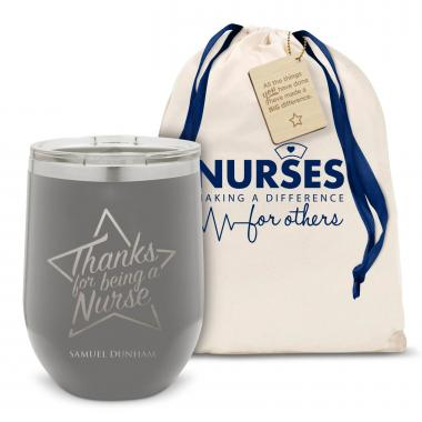 Thanks Nurse Star Stainless Steel Stemless Wine Glass