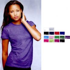 T-Shirts - Anvil<sup>®</sup> - Caribbean Blue;CharityPink<sup>™</sup>;Green Apple;Heather Green;Heather Purple;Hot Pink;Key Lime;Raspberry;Smoke - 2XL -  Women's junior fit fashion tee, 100% combed ring spun cotton. Blank