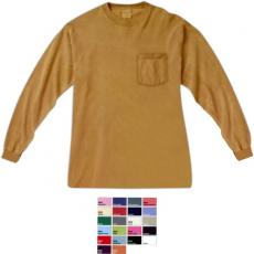 T-Shirts - Chouinard;Comfort Colors<sup>™</sup> - 2XL -  Long sleeve pocket tee, blank