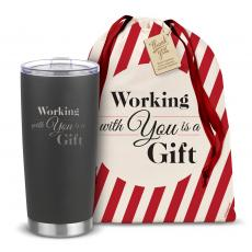 Joe Classic - The Holiday Joe - Working With You is a Gift 20oz. Stainless Steel Tumbler