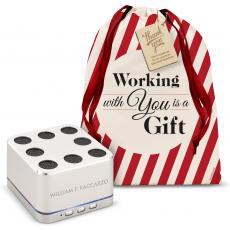 Speakers - Silver Aluminum Bluetooth Speaker Holiday Gift Set