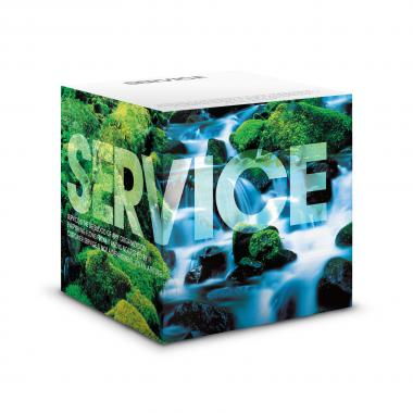 Service Waterfall Self-Stick Note Cube