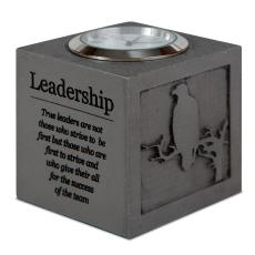 Engraved Clock Awards - Leadership Cube Desk Clock