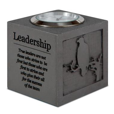 Leadership Cube Desk Clock