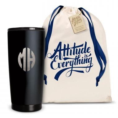 The Matte Joe - Monogram 20oz. Stainless Steel Tumbler