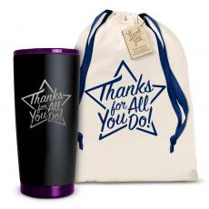 Yeti & Joe Tumblers - The Matte Joe - Thanks for All You Do Star 20oz. Stainless Steel Tumbler