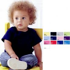 Baby Items - White -  Infant Lap Shoulder T-Shirt. Blank