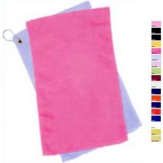 "Towels General - Q-Tees of California<sup>®</sup> - Azalea;Black;Forest;Gold;Hot Pink;Light Blue;Light Pink;Lime;Maroon;Natural;Navy ;Orange;Purple;Red;Royal ;Yellow;Yellow Haze -  Fingertip towel with fringed end, 11"" x 18"". Blank"