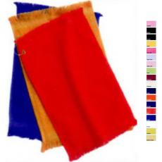 "Towels General - Q-Tees of California<sup>®</sup> - White -  Fingertip towel with fringed end, 11"" x 18"". Blank"