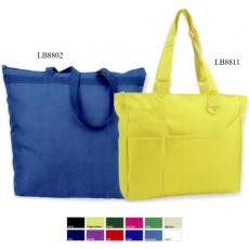 Tote Bags General - Liberty Bags<sup>™</sup> - Large tote bag, 600 denier polyester / PVC, zippered tote. Blank