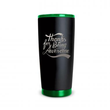 The Matte Joe - Thanks for Being Awesome 20oz. Stainless Steel Tumbler