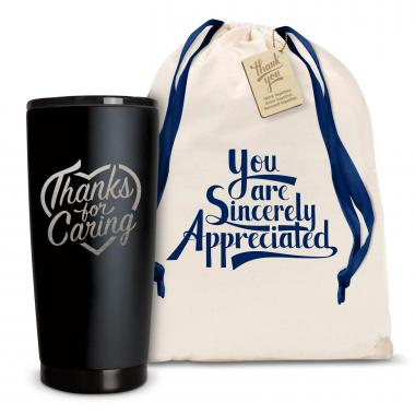 The Matte Joe - Thanks for Caring 20oz. Stainless Steel Tumbler