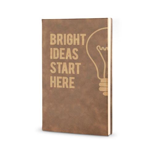 Bright Ideas Start Here - Vegan Leather Journal