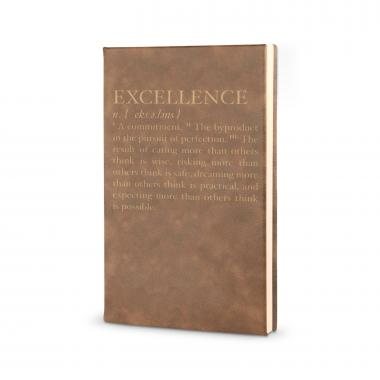 Excellence Definition - Vegan Leather Journal