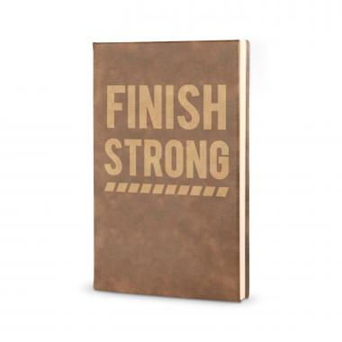 Finish Strong - Vegan Leather Journal