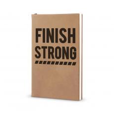 Journal Books - Finish Strong - Vegan Leather Journal