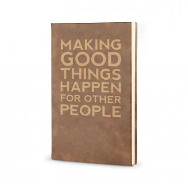 Good Things Happen - Vegan Leather Journal