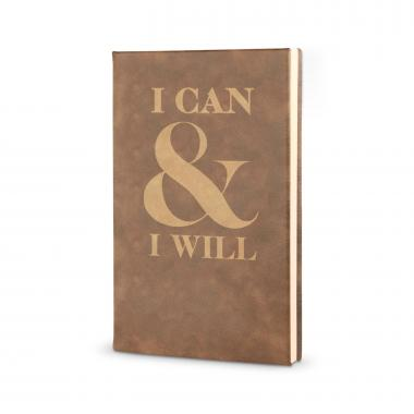 I Can & I Will - Vegan Leather Journal
