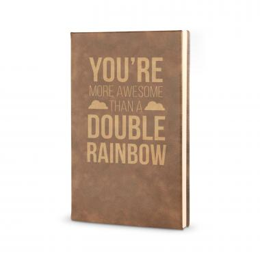 More Awesome than a Double Rainbow - Vegan Leather Journal