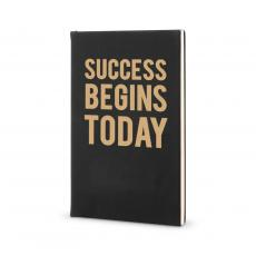 Success Themes - Success Begins Today - Vegan Leather Journal
