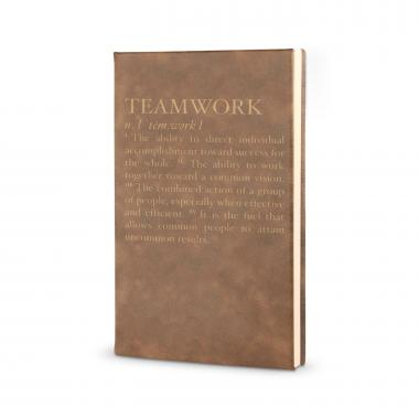 Teamwork Definition - Vegan Leather Journal