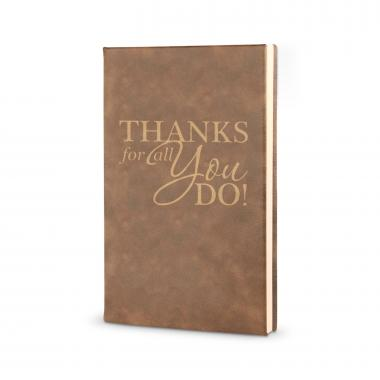 Thanks for All You Do - Vegan Leather Journal