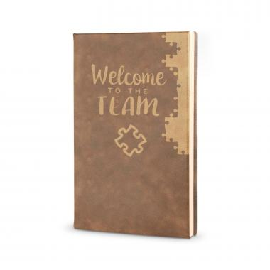 journal books welcome to the team vegan leather journal