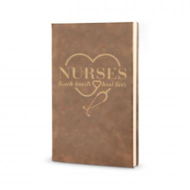 Nurses Touch Hearts - Vegan Leather Journal