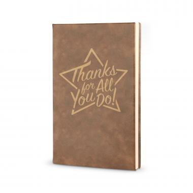 Thanks for All You Do Star - Vegan Leather Journal