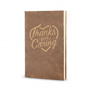 Thanks for Caring - Vegan Leather Journal
