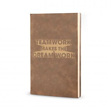Teamwork Dream Work 3D - Vegan Leather Journal