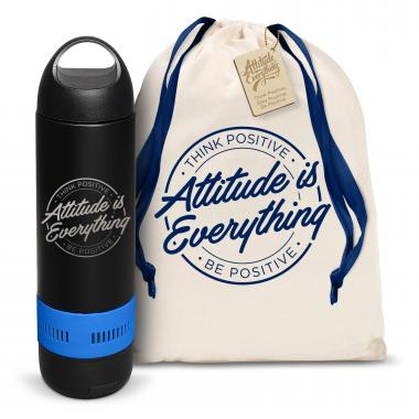 Attitude is Everything Circle Bluetooth Speaker Bottle