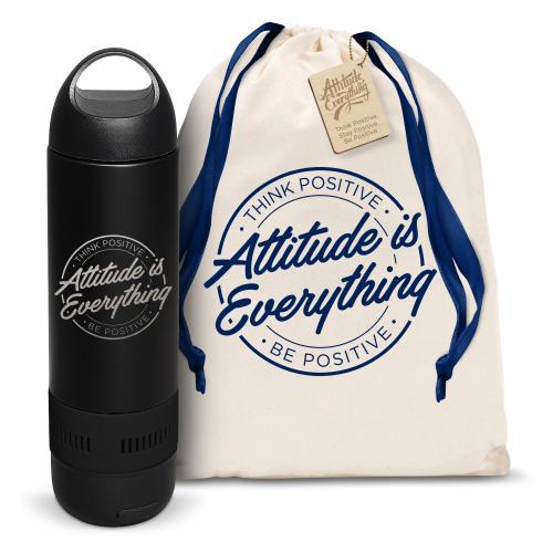 Attitude is Everything Circle Bluetooth Speaker Bottle