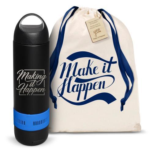 Make it Happen Square Bluetooth Speaker Bottle