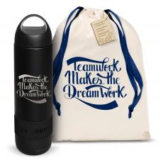 Vacuum Insulated - Teamwork Dream Work Bluetooth Speaker Bottle