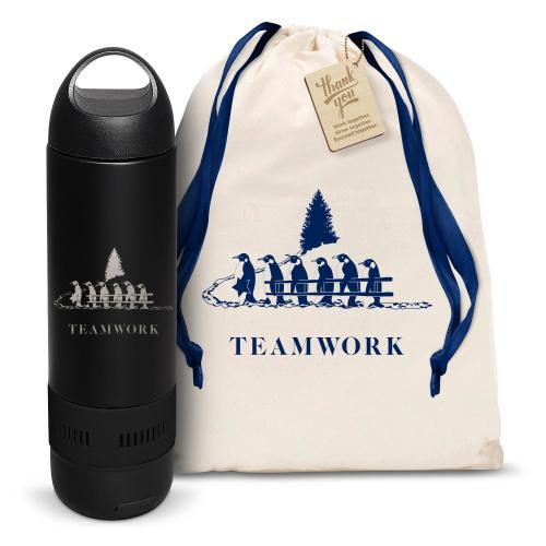 Bluetooth Speaker Bottle Teamwork Gift Set