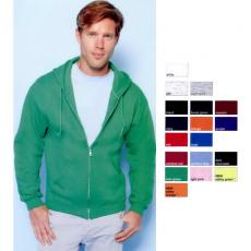Outerwear - Gildan<sup>®</sup> - Black;Cardinal Red;Carolina Blue;Dark Chocolate;Forest Green;Irish Green;Light Pink;Maroon;Navy;Orange;Purple;Red;Royal;Safety Green;Safety Orange - 5XL -  Heavy Blend<sup>™</sup> adult full zip hooded sweatshirt. Blank