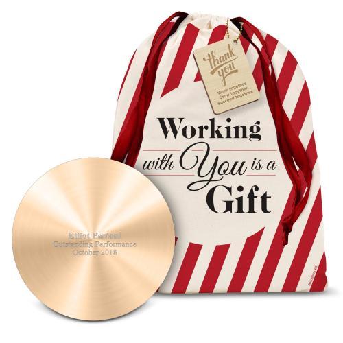 Gold Metal Power Bank Holiday Gift Set