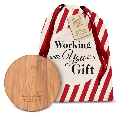 Wood Wireless Charging Pod Holiday Gift Set