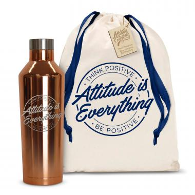 Attitude is Everything Circle 16oz. Stainless Steel Canteen