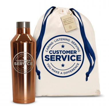 Customer Service 16oz. Stainless Steel Canteen
